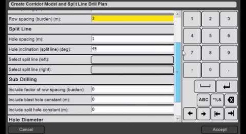 24. Trimble DPS900 V1.2 - Drill Plan Manager: Create Corridor Model and Split Line Drill Plans