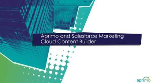 Access All of Your Content, Easily with Aprimo + Salesforce