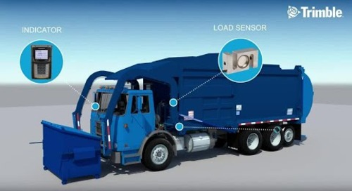 Trimble LOADRITE E2750 FEL Garbage Truck Scale - How it works (Strain Link)