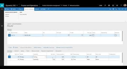 How to add a Route to an existing item in Dynamics 365 for Finance and Operations