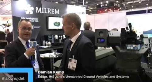 DSEI 2015: Milrem unveils its prototype hybrid unmanned ground vehicle