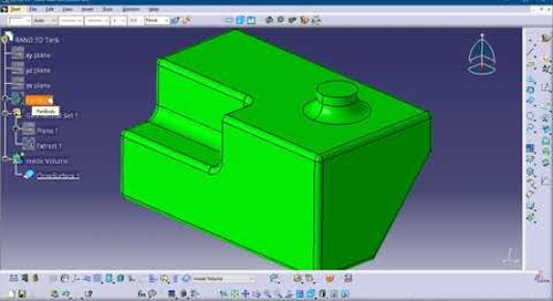 Measuring the inside volume of a container with CATIA V5
