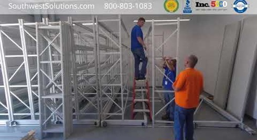Mobile Compact Pallet Racks Industrial Warehouse Storage