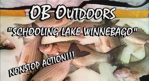 """CRAZY Lake Winnebago Ice Fishing - Episode: 2.2 """"Schooling Lake Winnebago"""""""