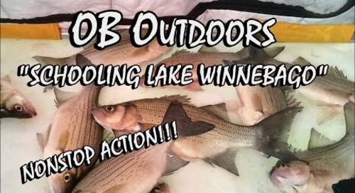 "CRAZY Lake Winnebago Ice Fishing - Episode: 2.2 ""Schooling Lake Winnebago"""