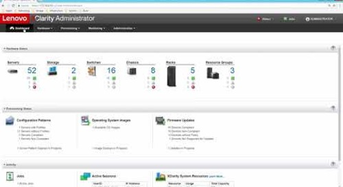 Lenovo XClarity Administrator 2.0 New Enhancements