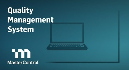MasterControl Quality Management System (QMS)