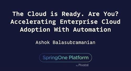 The Cloud is Ready. Are You? Accelerating Enterprise Cloud Adoption - Ashok Balasubramanian, Syntel