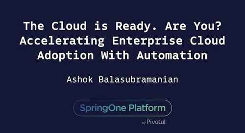 The Cloud is Ready. Are You? Accelerating Enterprise Cloud Adoption - Ashok Balasubramanian, Syntel