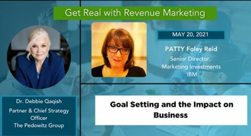 Goal Setting and the impact on Business | Patty Foley-Reid, Sr Director, Marketing, IBM