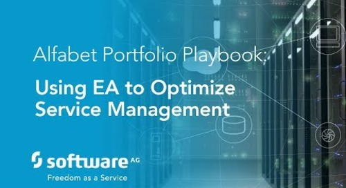 Alfabet Portfolio Playbook: Using EA to Optimize Service Management