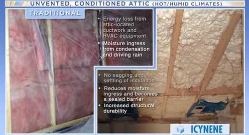 Spray Foam Insulation Demonstration - Icynene http:www.icynene.com