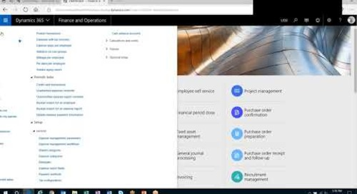 Dynamics 365: Project Integration in the Expense Management Module