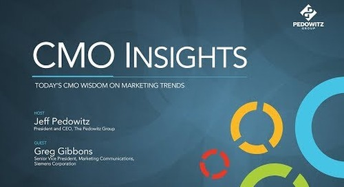 CMO Insights: Greg Gibbons, Senior Vice President, Communications, Siemens Corporation