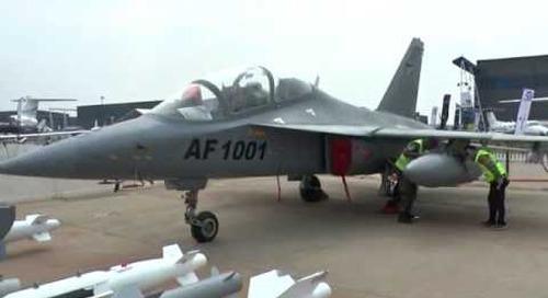 AAD 2016: China's Hongdu L-15AFT showcased by Zambian Air Force