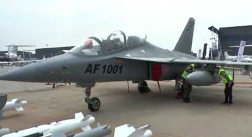 AAD 2016: China's Hongdu L-15AFT showcased by Zambian Air Force