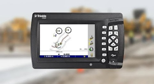 Trimble PCS900 Paving Control System - Trimble Hot Swap