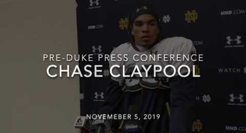 Chase Claypool Duke Week Press Conference