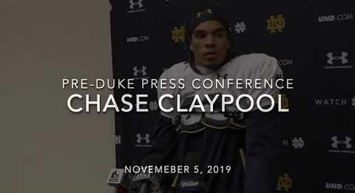 Chase Claypool Duke Week Press Conference