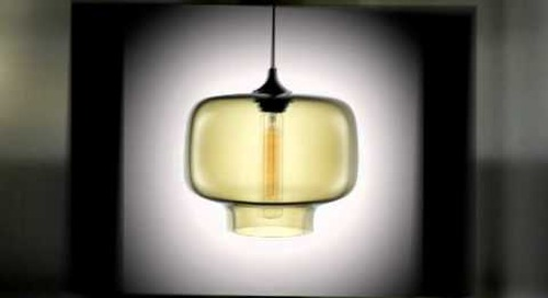Modern Pendant Lighting in Smoke Handblown Glass