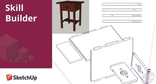 [Skill Builder] Prepping Woodworking Projects for LayOut in SketchUp