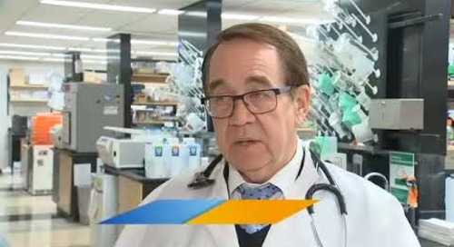 KPTV Health Watch 12/8/17 news story Leukemia Research Dr. Godwin