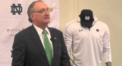 Jack Swarbrick talks Notre Dame-Under Armour Deal