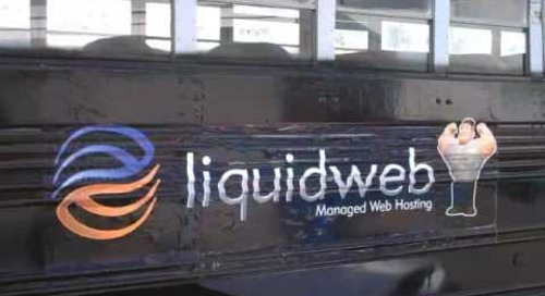 Painting the Liquid Web Bus for Bus Figure 8's
