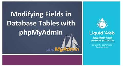 Modifying Fields in Database Tables Using PhpMyAdmin
