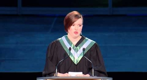 Convocation 2015 - School of Business Valedictorian Emily Robinson
