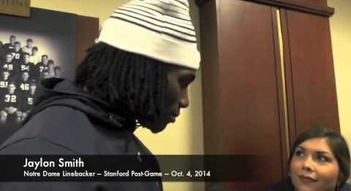 Notre Dame LB Jaylon Smith After Win Over Stanford - 10/4/14
