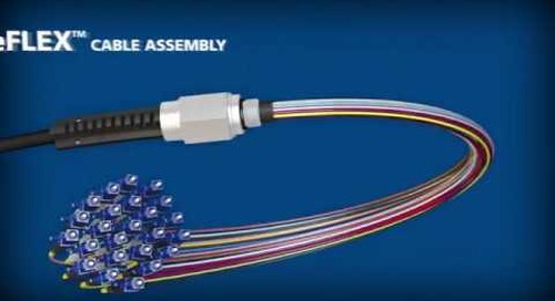 AFL NodeFLEX cable assemblies with bendable boots