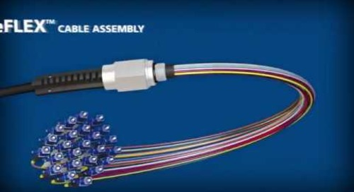 AFL NodeFLEX® cable assemblies with bendable boots