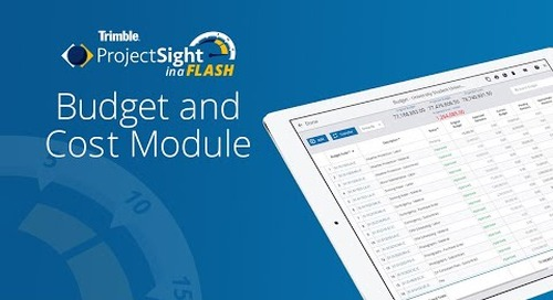 ProjectSight in a Flash - Budget and Cost