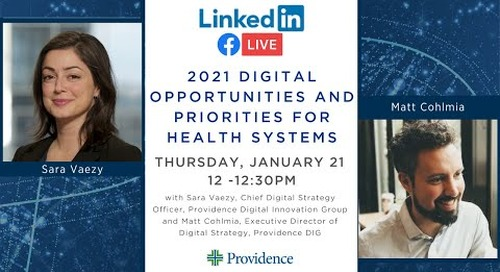 2021 Digital Opportunities and Priorities for Health Systems