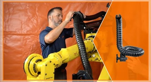 How to install an igus triflex RSE cable management system on a six-axis robot