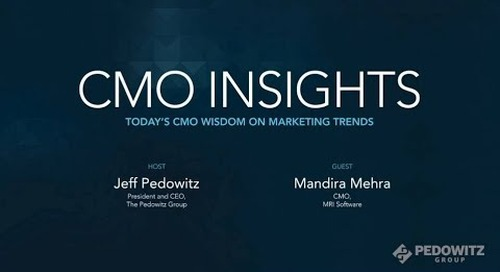 CMO Insights: Mandira Mehra, CMO, MRI Software