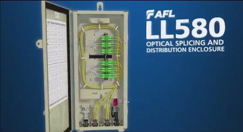 AFL LightLink 580 (LL580) Optical Splicing and Distribution Enclosure