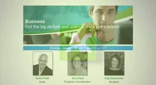Business Webinar - Think Like a Leader