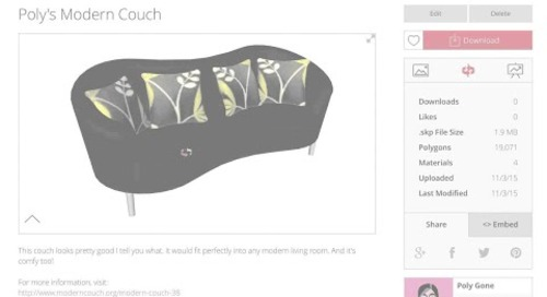 3D Warehouse: Uploading Models
