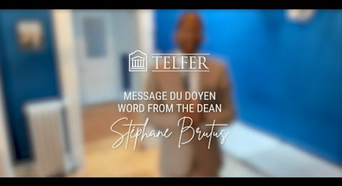 2021 Telfer's Spring Convocation - Word of the Dean