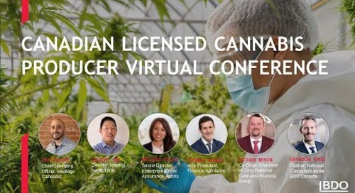 Canadian Licensed Cannabis Producer Virtual Conference | BDO Canada