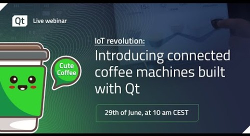 IoT Revolution: Introducing connected coffee machines built with Qt {On-demand webinar}