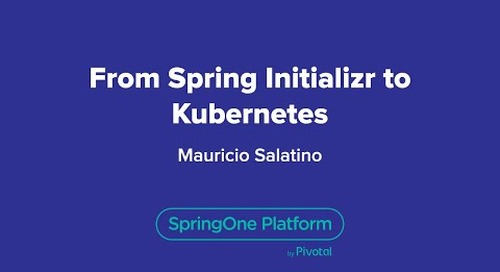 From Spring Initializr to Kubernetes