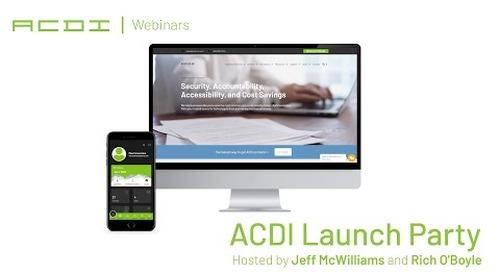ACDI Webinar | ACDI Launch Party