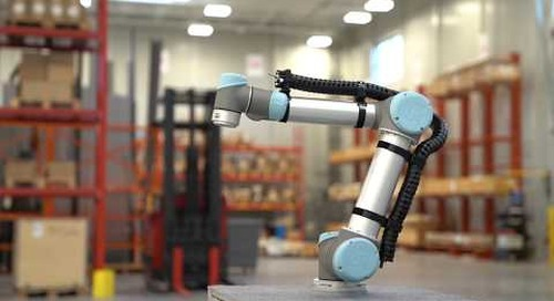 On robot demo: triflex R® cobot cable management kit