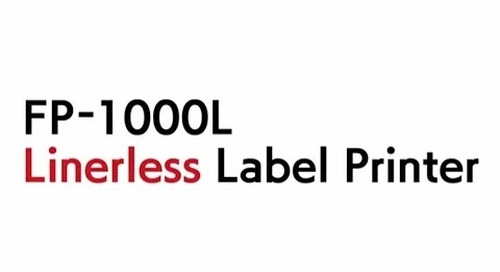 FP-1000L Fujitsu Linerless Label Printer Introduction Video