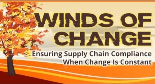 Winds of Change: Ensuring Supply Chain Compliance