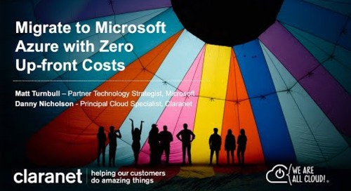 Rapid Cloud Migration to Microsoft Azure - Migrate your IT with Zero Up front Costs