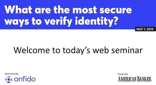 What are the most secure ways to verify identity?